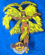 LAS VEGAS 08 EXOTIC HRC SHOWGIRL GIRL DANCER YELLOW FEATHERS Hard Rock Cafe PIN