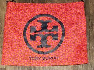 "Tory Burch Dust Bag Large Pink Logo Drawstring Bag 12""x10""."