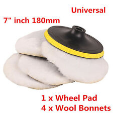 "7"" inch 180mm Soft Wool Clean Polishing Buffing Bonnet Pad Kit for Car Polisher"