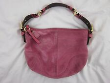 Coach #3656 Soho Hobo Pink Suede Brass Hardware Short Sling Bag Tote Purse