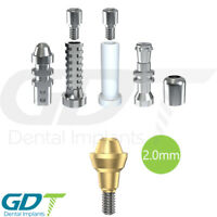 Straight Multi Unit 2.0mm Set For Conical RP Active Hex Dental Implants
