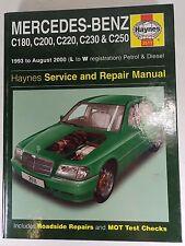 Haynes Mercedes-Benz C180, C200, C230, C250 93 a 2000 L a W Reg Gasolina Diesel