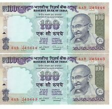 INDIA--RESERVE BANK--100 RUPEES X-2(CONSECUTIVE NOTES)--P-91--SIGN 87--CRISP UNC