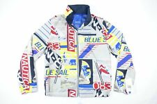 NAUTICA BLUE SAIL J93500 2XL WIND ALL OVER PRINT SAILING BOATING ART JACKET NWT
