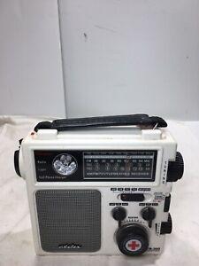 ETON FR-300 RADIO EMERGENCY CRANK BATTERY AM FM WEATHER (TESTED)