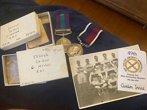 Royal Air Force RAF Long Service Medal GvR & GSM Cyprus in boxes w/extras