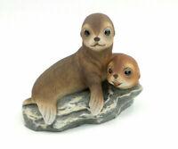 Vintage Homco Home Interior MASTERPIECE PORCELAIN Seal SEA LION Figurine 1981