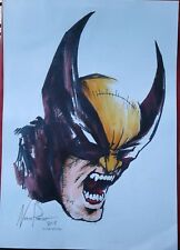 """Wolverine 8.5x11"""" Color Print Art Sketch drawing comic Aceo Parrish marvel film"""
