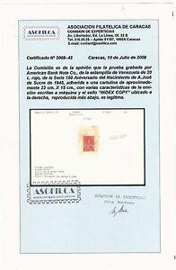 "Venezuela: Proof 1945; ""Index Copy"", set Antonio Jose de Sucre, sc 391. IDX032/"