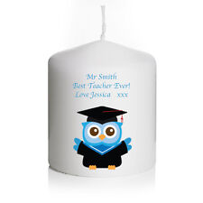 Personalised Owl Candle Thank You Gifts For Teacher Christmas Present Retirement