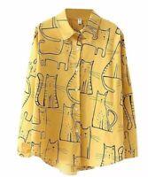 Cats oversize long sleeve shirt for Summer