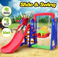 Kids Indoor Outdoor Playground Set Swing Slide Perfect Home Gift Toddler Playset