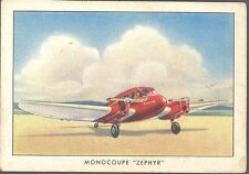 Brown & Williamson - Modern American Airplanes, Series B - 8 - Monocoupe Zephyr