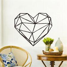 Geometric Heart-Shaped Modern Wall Sticker Home Decor Living Room Art Wall Decal
