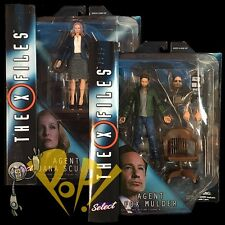 """The X-FILES Select 2016 Fox MULDER Dana SCULLY 7"""" Action Figure SET Diamond Toys"""