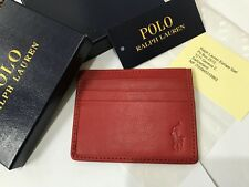 POLO RALPH LAUREN CARDHOLDER, CARD CASE HOLDER 7 SLOTS RED