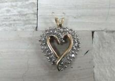 Heart Pendant ~ 3.2grams ~ 6-A170 1.0ctw Diamond / 10Kt Solid Yellow Gold