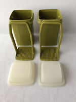 Vintage Tupperware #1330 Pick A Deli Pickle Olive Jalapeno Storage Green
