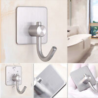 Stainless Steel Robe Hook Wall Mounted Single Towel Clothes Hanger Accessory BL3