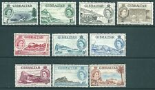 GIBRALTAR 1953 QE2 mint short SET to 1/-