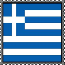 30 Custom Greek Flag Stamp Art Personalized Address Labels
