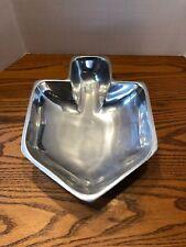 Alef Judaica Polished Metal Dreidel Candy Dish Bowl Used