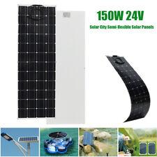Elfeland 150W 24V Semi Flexible Solar Panel Off Grid + Cable For RV Boat Home