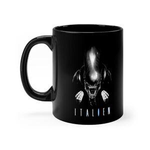 Alien Movie Pun Spoof Parody Italien Black mug 11oz