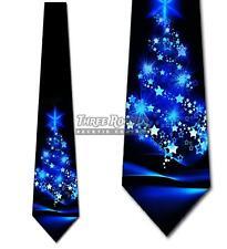 Christmas Ties Men's Xmas Tree Holiday Necktie Black Tie