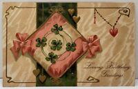 Loving Birthday Greetings 1908 to Union Bridge Maryland Embossed Postcard E15