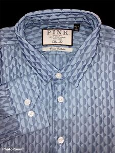 Thomas Pink Size 15.5-16 Medium Slim Fit Casual Collection Shirt - $195 NWT