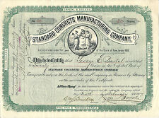 New Jersey, 1897 Standard Concrete Manufacturing Company Stock Certificate