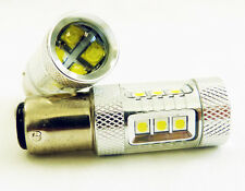 2x 80W CREE White 1157 High Power LED 12V 24V Turn Signal Brake Park USA