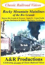 Rocky Mountain Mainlines of the Rio Grande Railroad DVD
