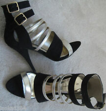 Dorothy Perkins Black Stiletto High Heel Shoes Sandals Boots (NEW) size 5-£40.00