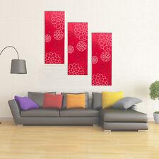 3x XL Rouge Moderne Toile Art Mural Multi Abstrait salle à manger décoration