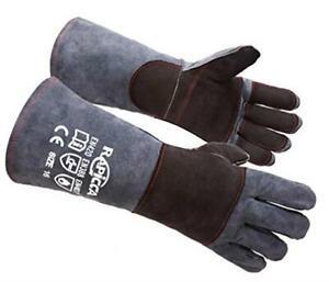 RAPICCA Animal Handling Gloves Bite Proof Kevlar Reinforced Leather Padding