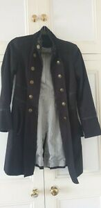 Womens Military Coat Next Petite Size 8 Fully Lined