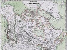 Landkarte KANADA🍁Britisch Nordamerika Alaska Grönland Echte Lithographie 1859🍁