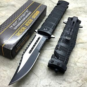 TAC-FORCE Diamond Cut Pattern Tactical Hunting Rescue Pocket Knife TF-710BK
