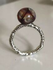 Moxie The Pave X Trollbead Bead Ring with Crystal accents sz 7