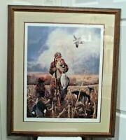 """""""Grandad's Gift"""" By Ralph McDonald signed print 963/5300 framed Ducks Unlimited"""