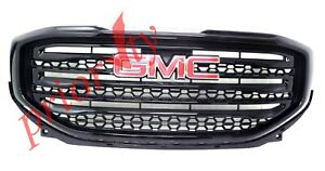23372598 Front Upper Grille SLT Black with Red GMC Logo 2017-2019 GMC Acadia