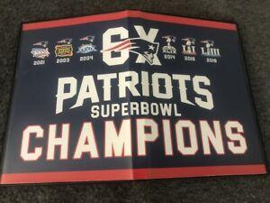 NE Patriots 6 Super Bowl XXXVI XXXVIII XXXIX XLIX LI LIII 36 38 39 49 51 53