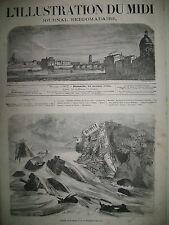 TRAIN GRANALLERS A BARCELONE BORDEAUX HOTEL DE VILLE L'ILLUSTRATION DU MIDI 1863