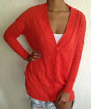 Urban Outfitters Mouchette Cardigan Sweater Orange Size Small NWT $69