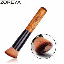 ZOREYA Slanted Foundation brush 1pc Make Up Brush With Natural Wood Handle