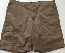 Columbia 100% Cotton Flat Front Shorts Khaki Mens 40 X 10 EUC