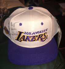 Vintage 1990s Lakers Hat Script Sports Specialties Signed Jerry West NOS TAG