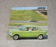 FIAT 128 3-door Coupé COUPE ORIG USA delle vendite sul mercato opuscolo c1973